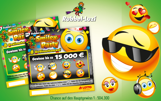 Rubbel-Luzi Smiley-Party