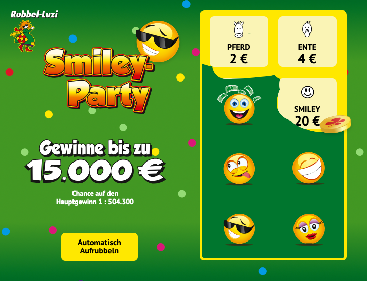 Smiley-Party - Aufrubbeln
